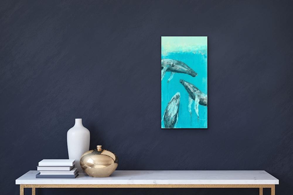 John Baran   Original Paintings Turtles Whales Sealife Animals Swimming Underwater Teal Turquoise tropical paradise hawaii evo art maui front street gallery 11