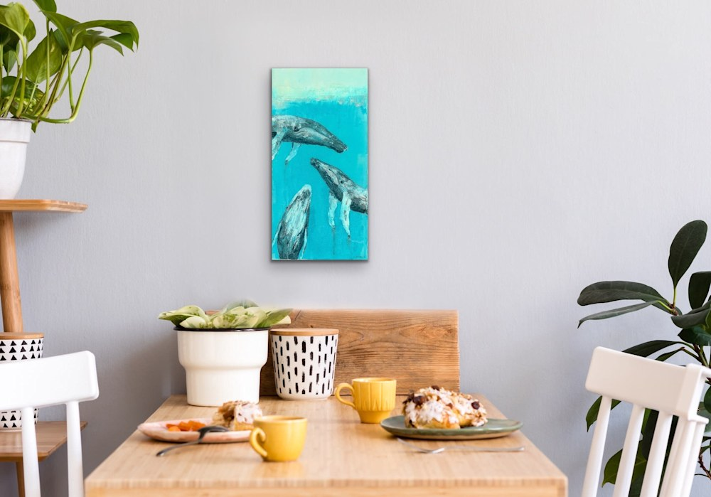 John Baran   Original Paintings Turtles Whales Sealife Animals Swimming Underwater Teal Turquoise tropical paradise hawaii evo art maui front street gallery 10