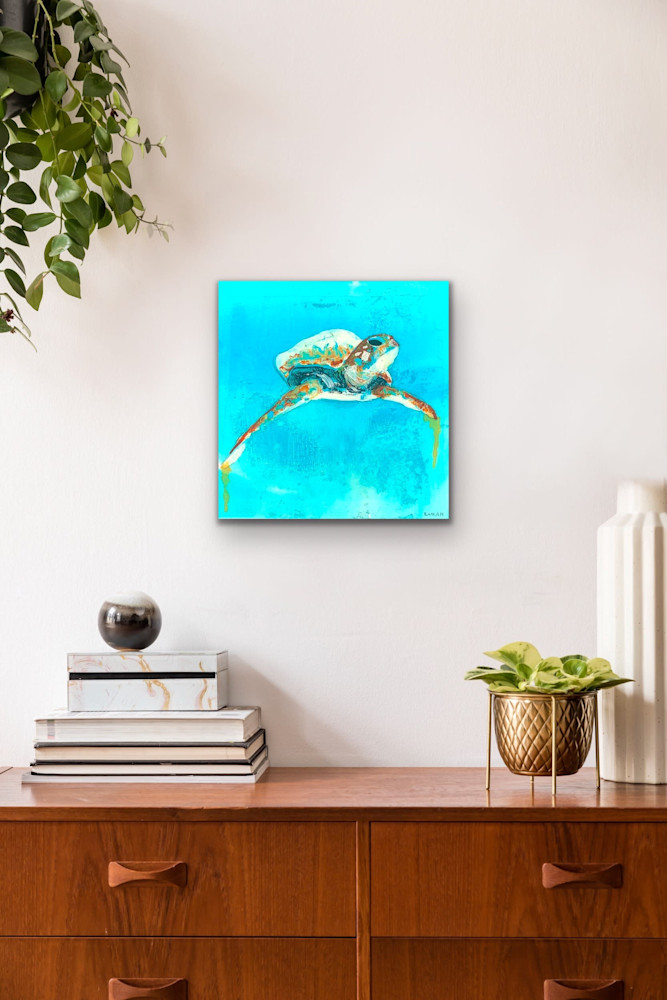John Baran   Original Paintings Turtles Whales Sealife Animals Swimming Underwater Teal Turquoise tropical paradise hawaii evo art maui front street gallery 8