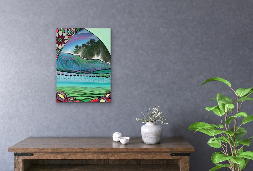 Shannon Oconnell Paintings Mock Ups Evo Art Maui Lahain Front Street Gallery Collect Popular Colorful Ocean Flowers Scenery Waves 64