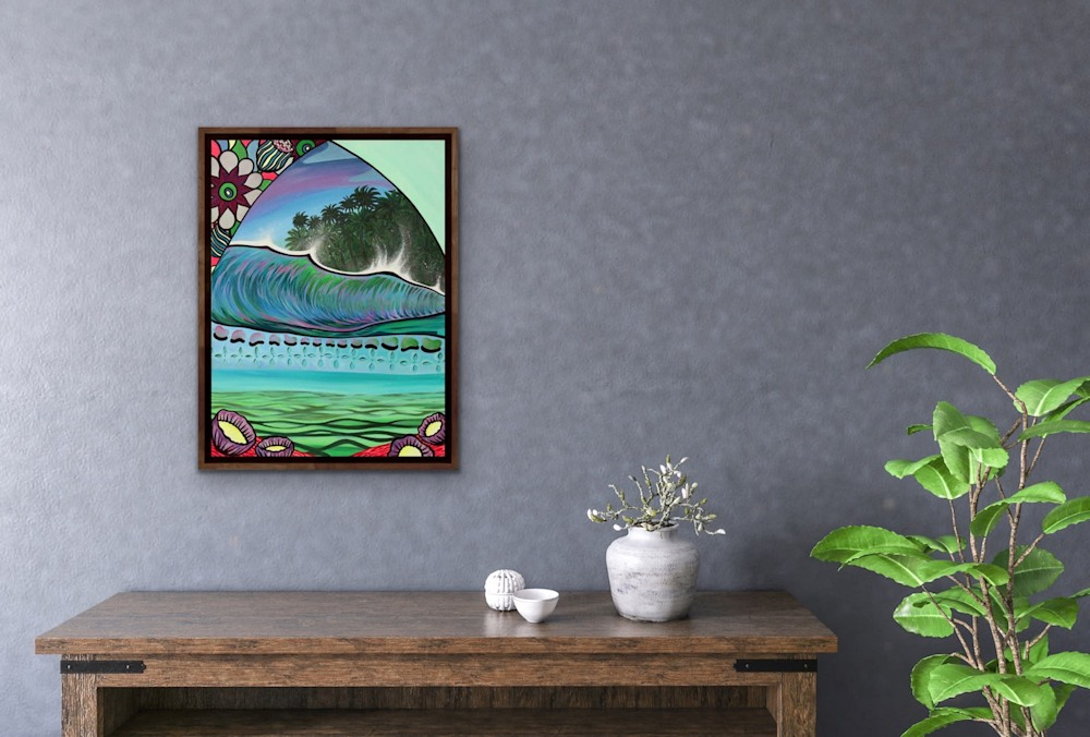 Shannon Oconnell Paintings Mock Ups Evo Art Maui Lahain Front Street Gallery Collect Popular Colorful Ocean Flowers Scenery Waves 65