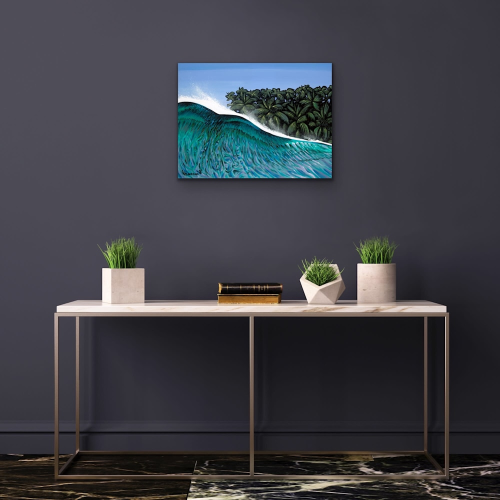 Shannon Oconnell Paintings Mock Ups Evo Art Maui Lahain Front Street Gallery Collect Popular Colorful Ocean Flowers Scenery Waves 73