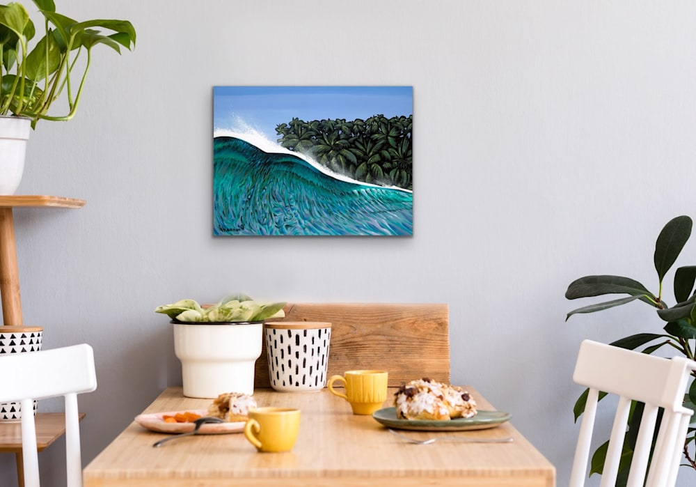 Shannon Oconnell Paintings Mock Ups Evo Art Maui Lahain Front Street Gallery Collect Popular Colorful Ocean Flowers Scenery Waves 72