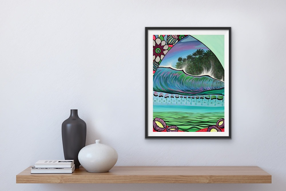 Shannon Oconnell Paintings Mock Ups Evo Art Maui Lahain Front Street Gallery Collect Popular Colorful Ocean Flowers Scenery Waves 63