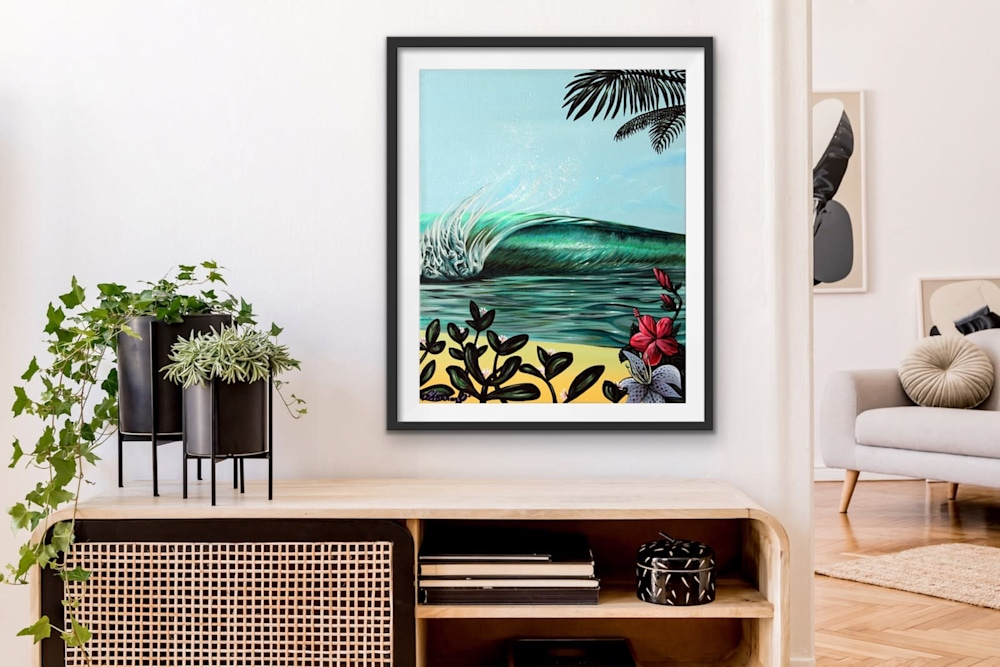Shannon Oconnell Paintings Mock Ups Evo Art Maui Lahain Front Street Gallery Collect Popular Colorful Ocean Flowers Scenery Waves 87
