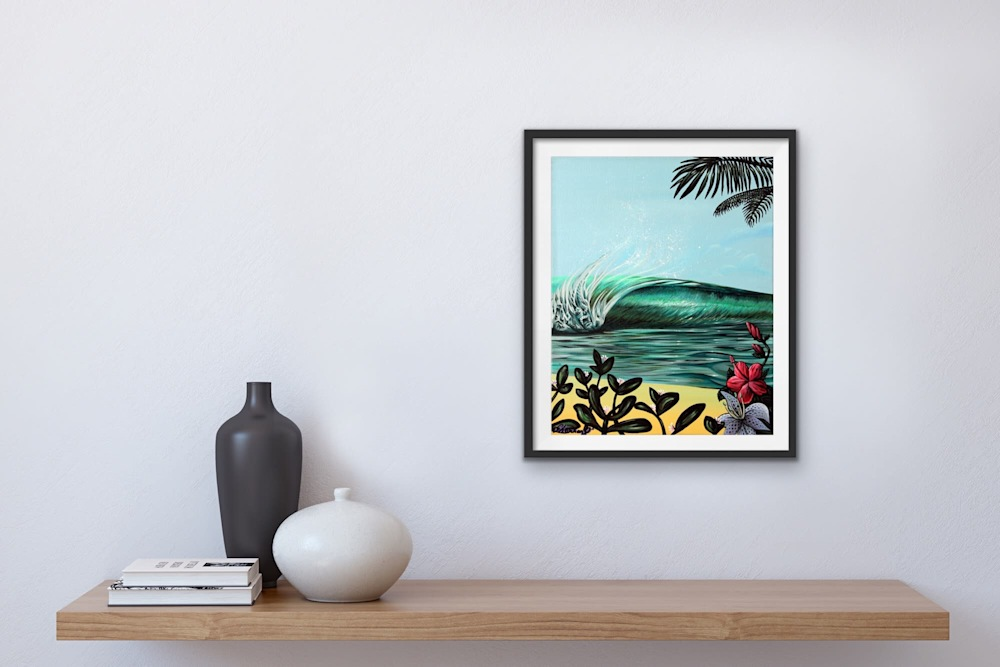 Shannon Oconnell Paintings Mock Ups Evo Art Maui Lahain Front Street Gallery Collect Popular Colorful Ocean Flowers Scenery Waves 86