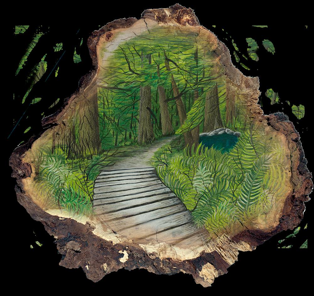 Wooded Path Pform
