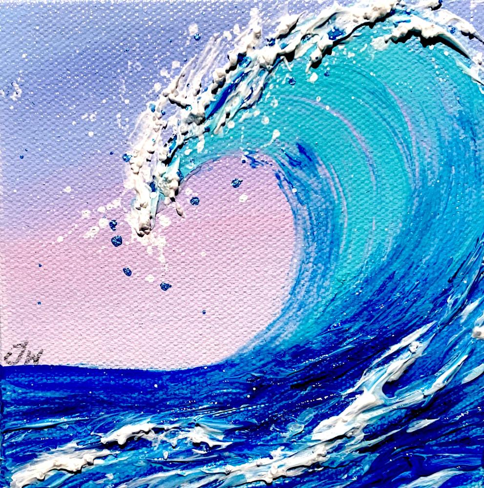 Jenna Wellein   Sunrise Waves & Drop of Ocean   Marine Debris Clean Ocean Texture Hawaii Maui Painting Front Street Lahaina 5