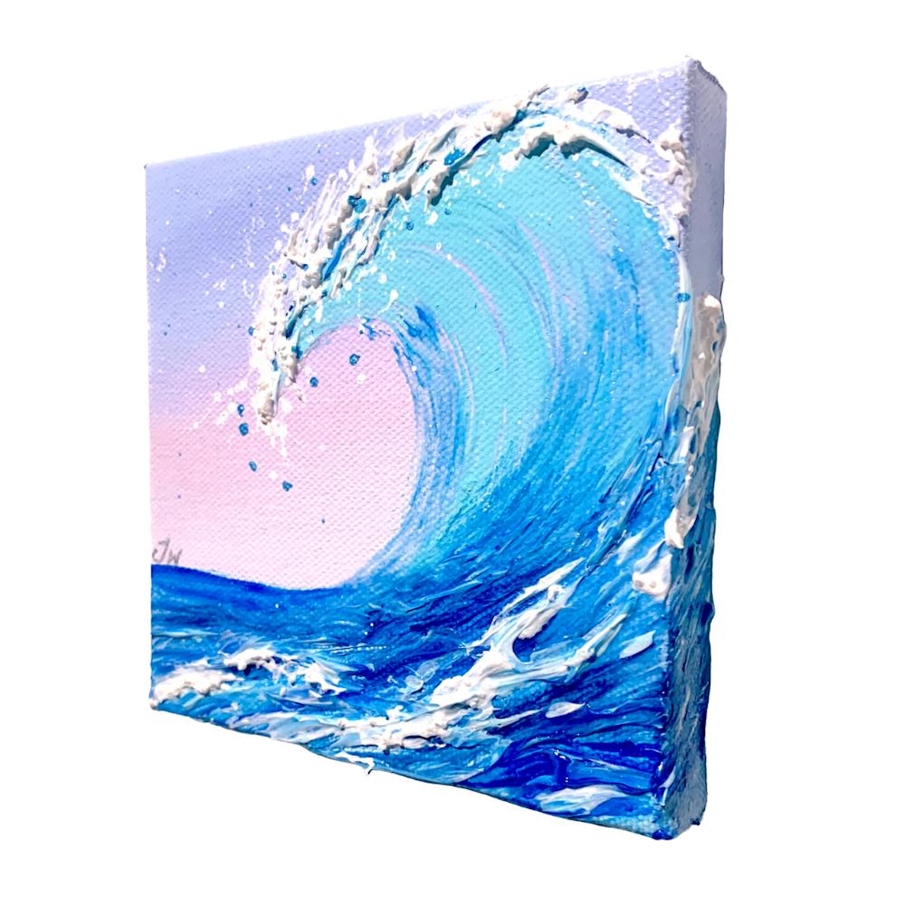 Jenna Wellein   Sunrise Waves & Drop of Ocean   Marine Debris Clean Ocean Texture Hawaii Maui Painting Front Street Lahaina 6