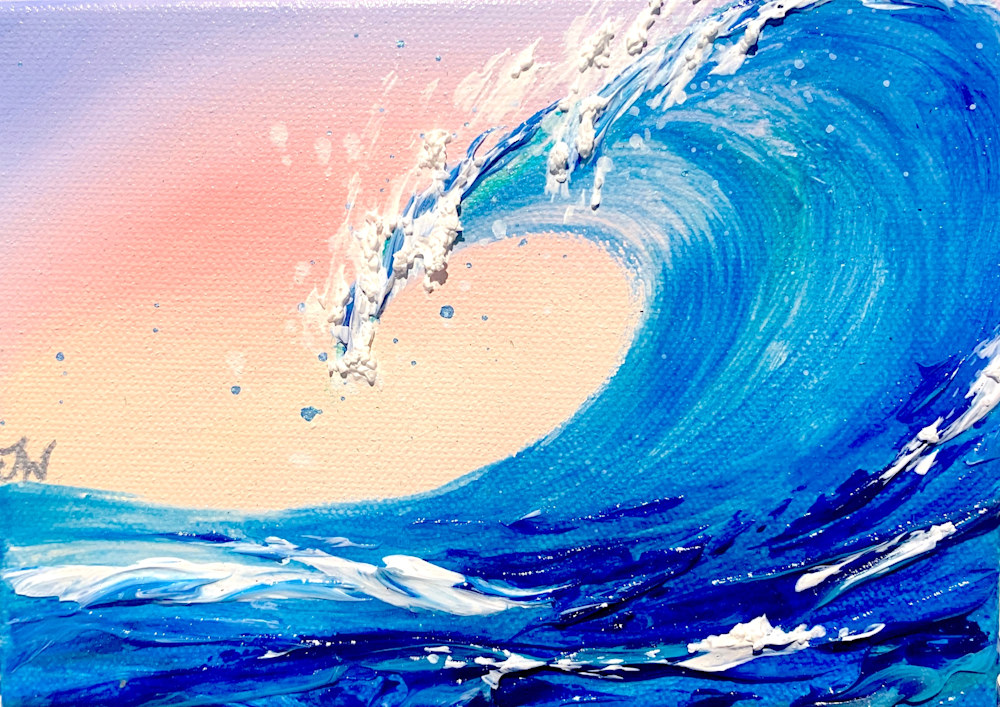 Jenna Wellein   Sunrise Waves & Drop of Ocean   Marine Debris Clean Ocean Texture Hawaii Maui Painting Front Street Lahaina 18