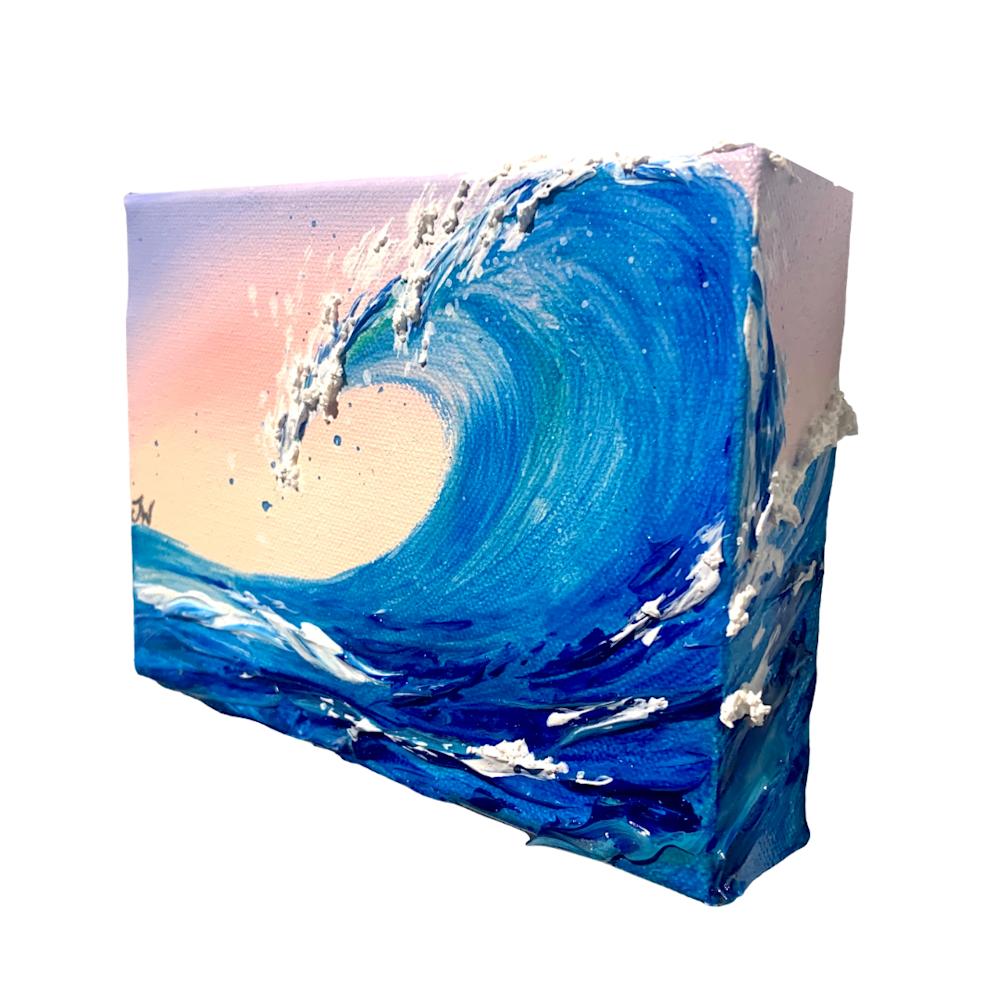 Jenna Wellein   Sunrise Waves & Drop of Ocean   Marine Debris Clean Ocean Texture Hawaii Maui Painting Front Street Lahaina 17