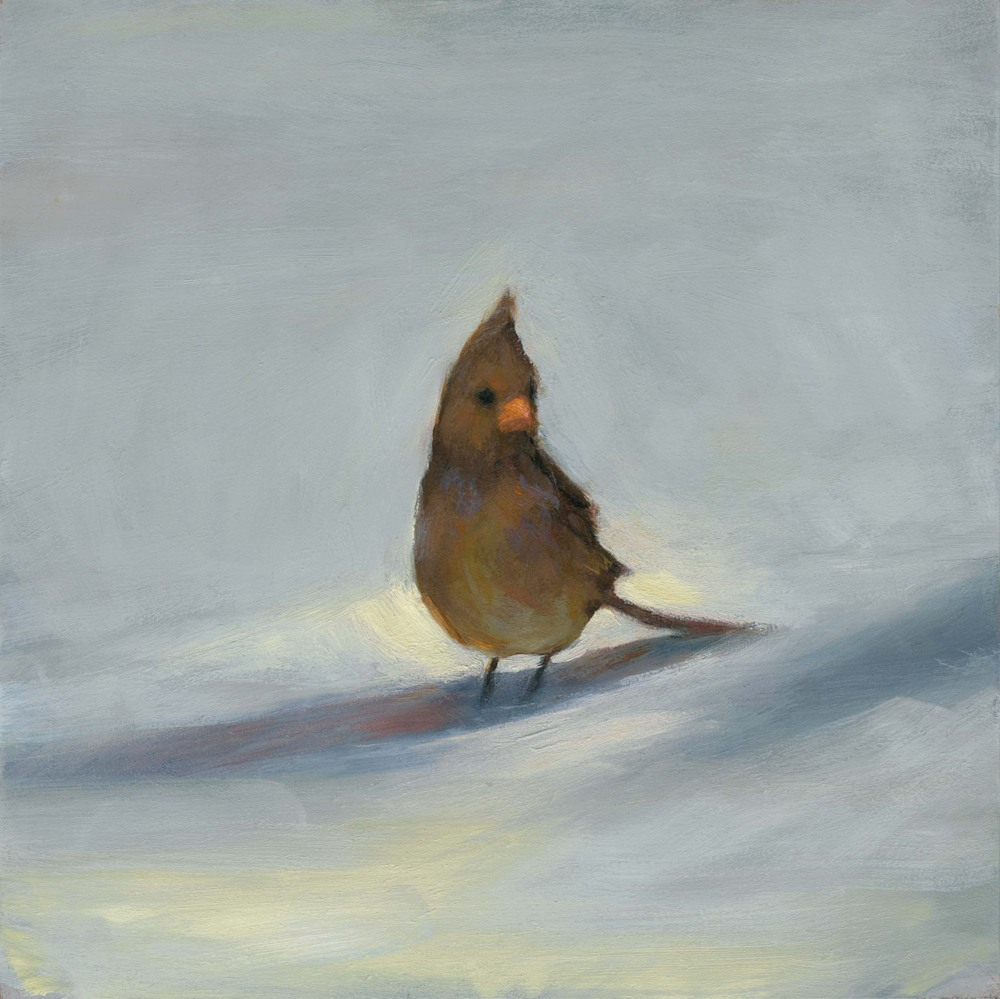 female cardinal by Lisa Turchi Diebboll