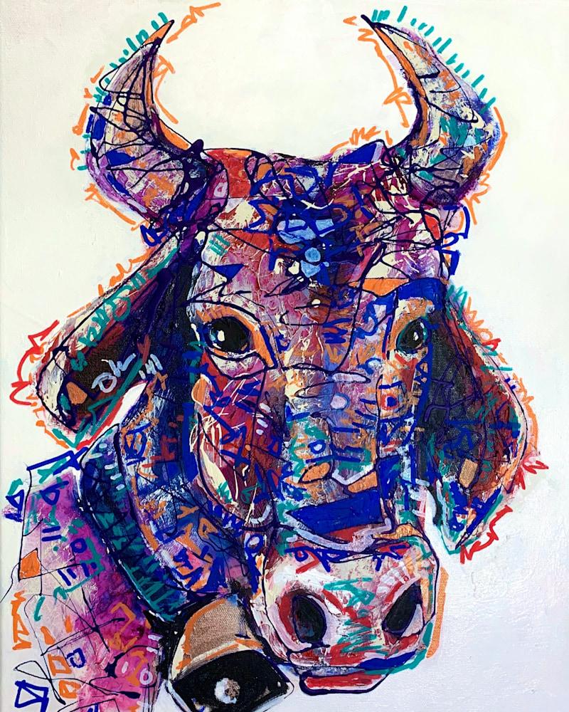 Clara the Cow 14x18