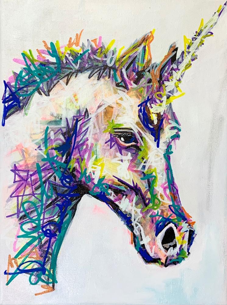 Unkno the Unicorn 9x12