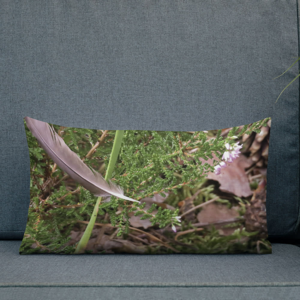 Floating Feather Pillow mockup Front Lifestyle 2 Outdoors Lifestyle 20x12