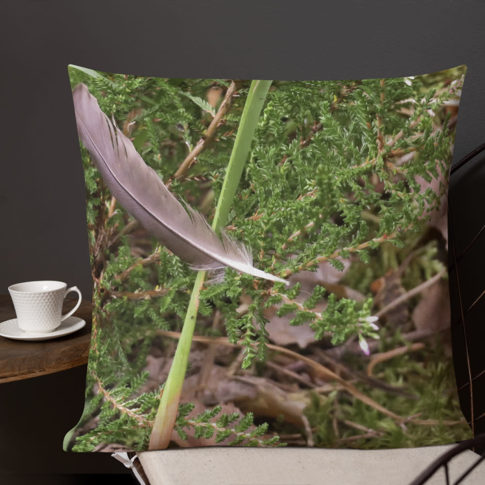 Floating Feather Pillow mockup Front Lifestyle 3 Outdoors Lifestyle 22x22