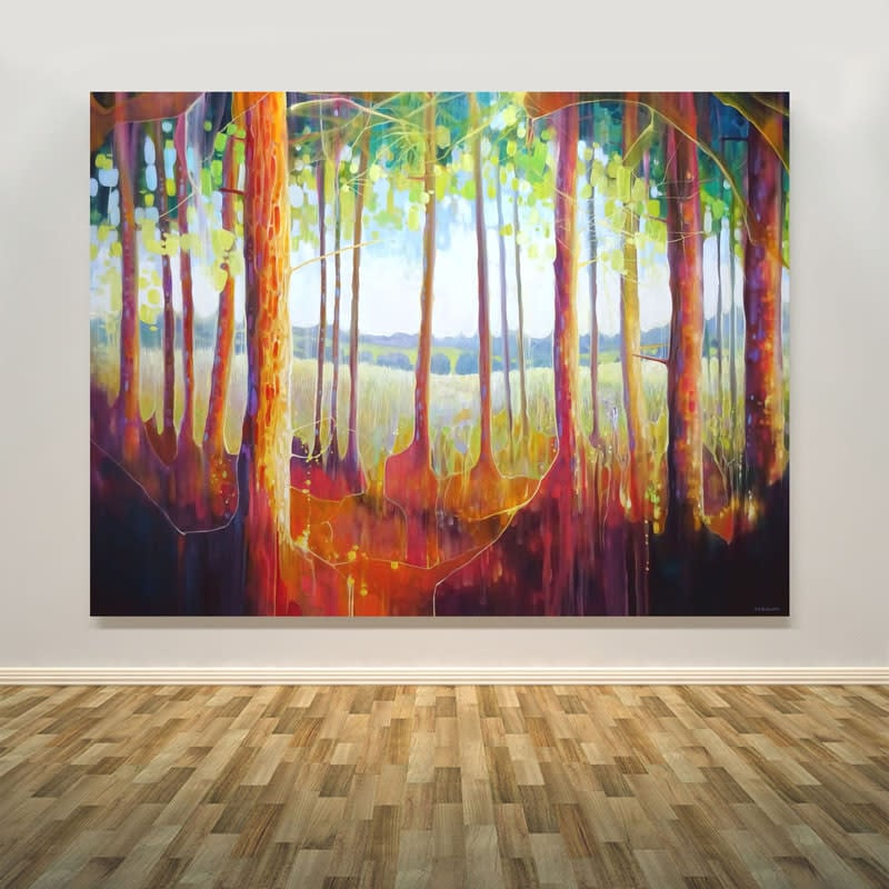 out of the forest by gill bustamante wall art print S