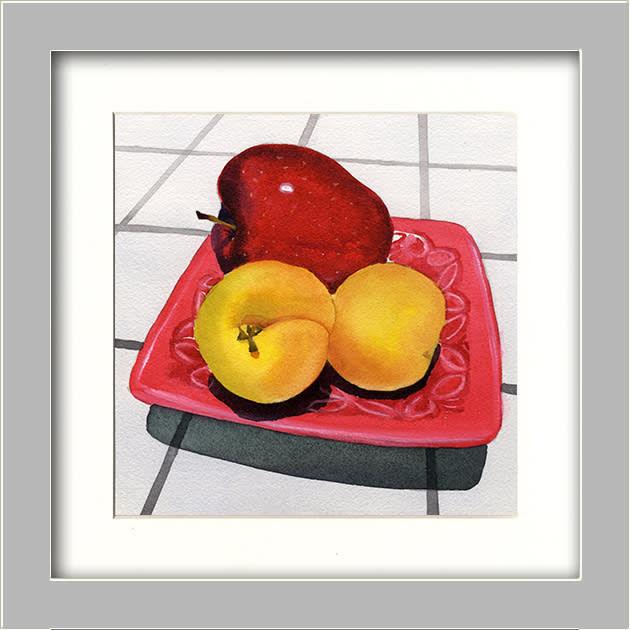Apple & Apricots FRAMED