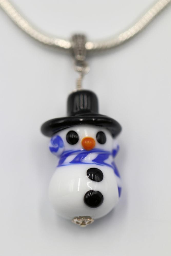 Glass Snowman Jessica Mayes $32
