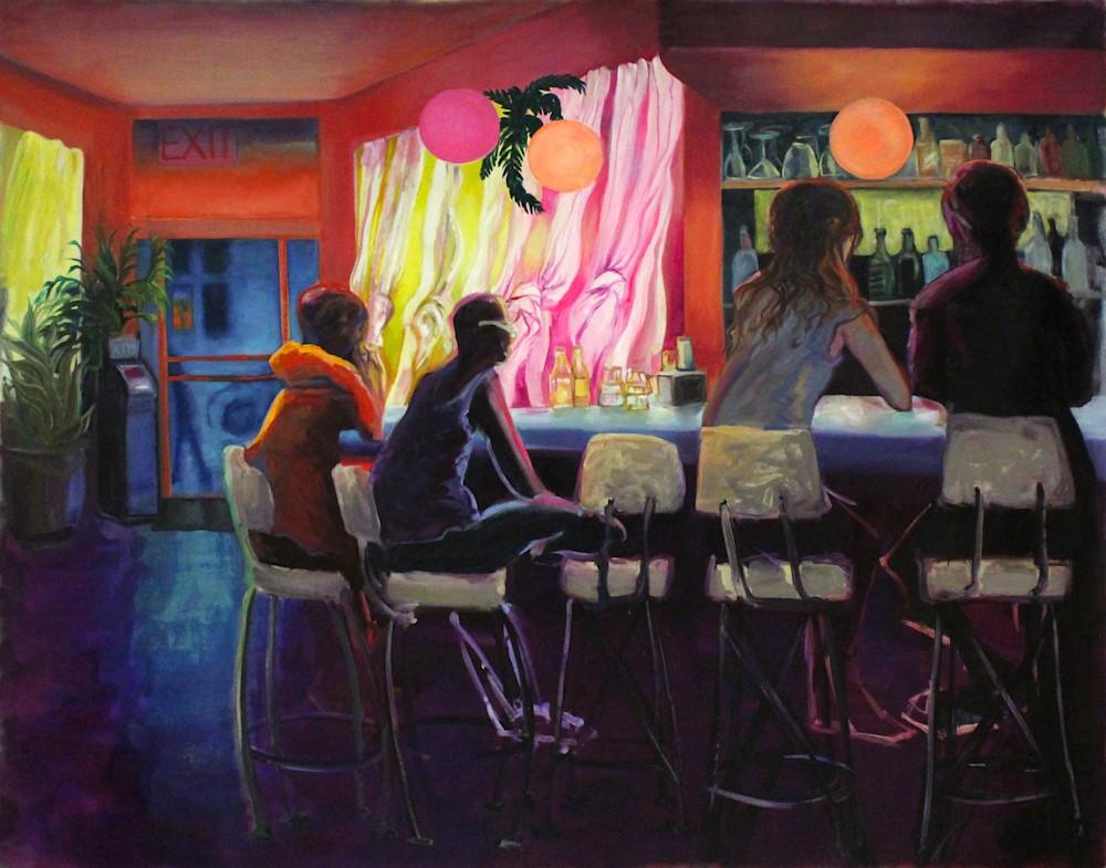 Rebecca's Bar Brooklyn Painting Michael Serafino WetPaintNYC Gallery