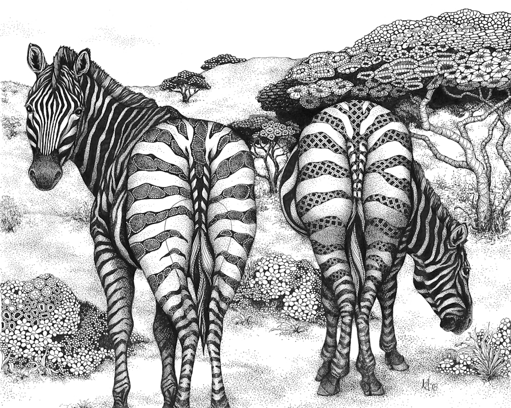zebra butts (Two of a Kind)
