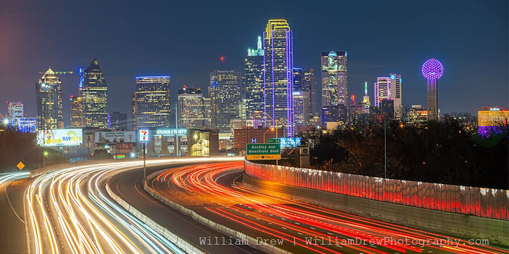 Dallas Skyline and Freeway sm