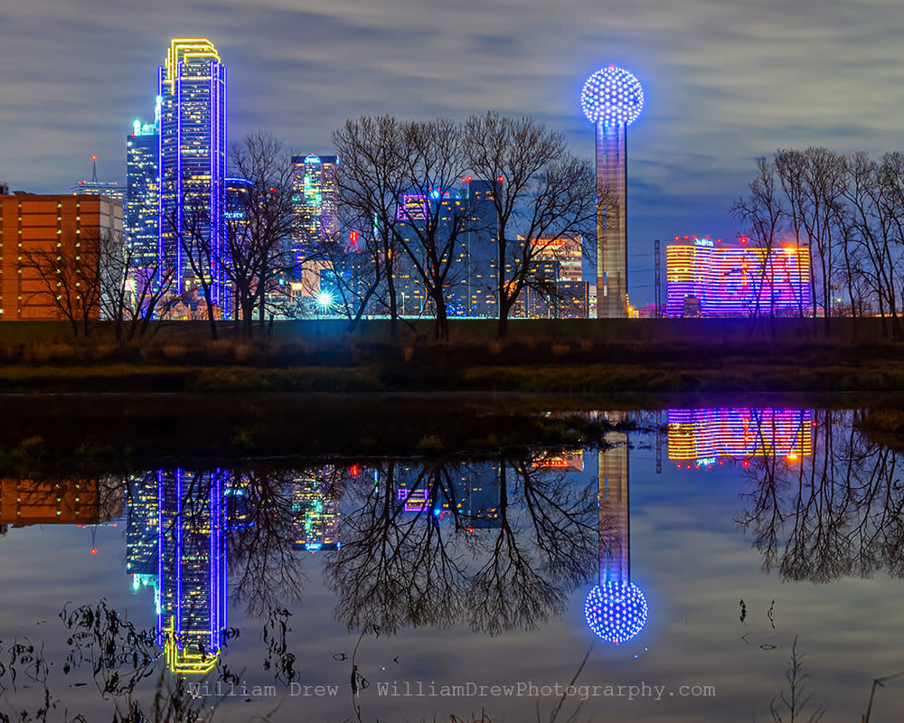 Dallas Skyline Reflection sm