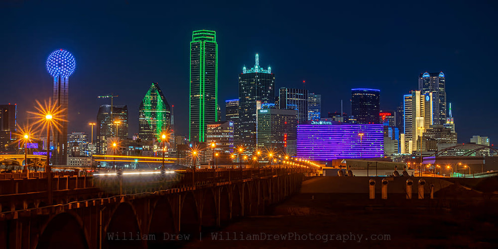 South Houston Street Bridge View of Dallas Skyline sm