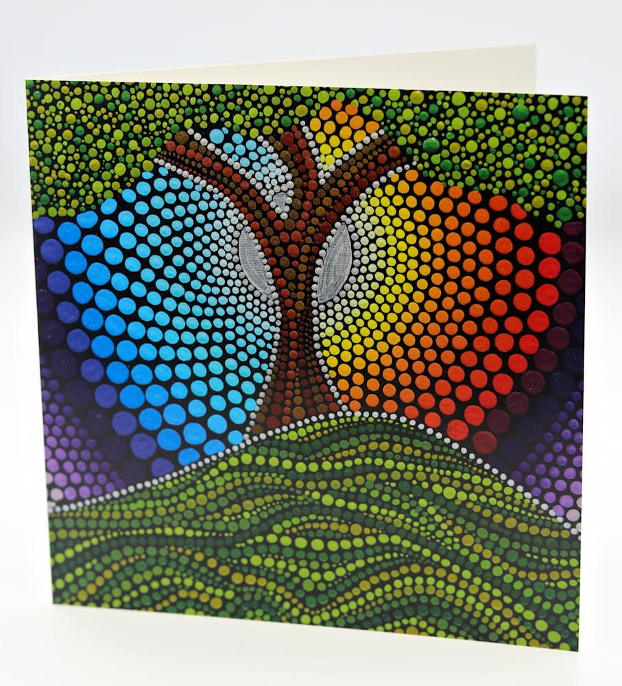 Lakshmi Sriraman Note Card Tree of Life $5