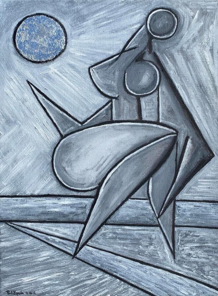 Moonlight Figure Painting Artist Paul Zepeda
