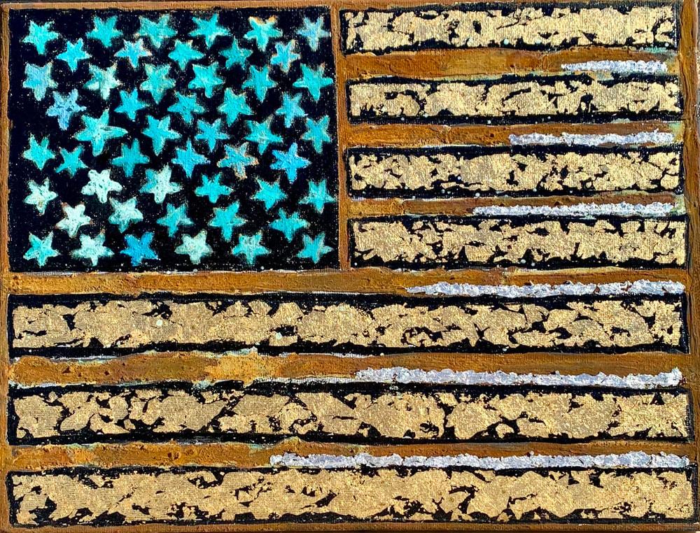 Rusty American Flag Artist Paul Zepeda
