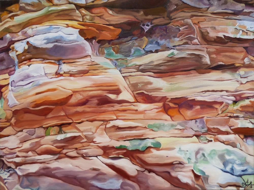 Sandstone Beauty BrittanySelfe 48x36oil 2015