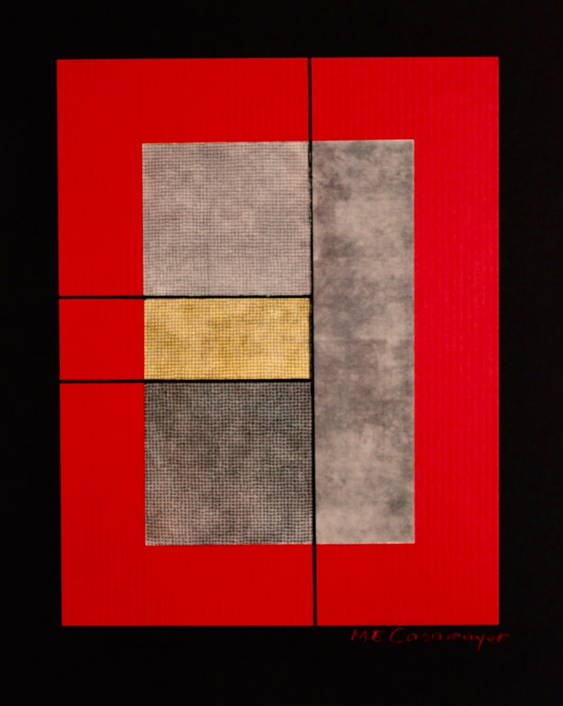 Composition in Red, Gray and Yellow