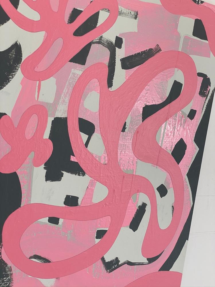4 4 20 thomas matthew pierson amoeba fractal #13 18x24 acrylic on hardboard 2020 detail 7