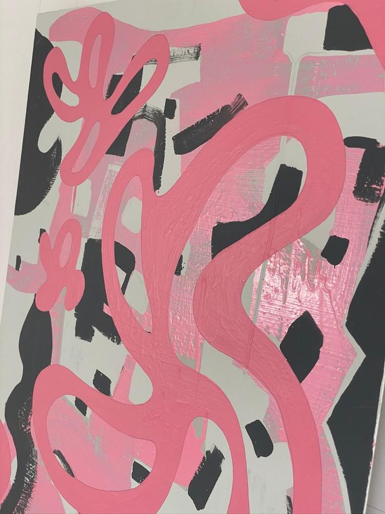 4 4 20 thomas matthew pierson amoeba fractal #13 18x24 acrylic on hardboard 2020 detail 8