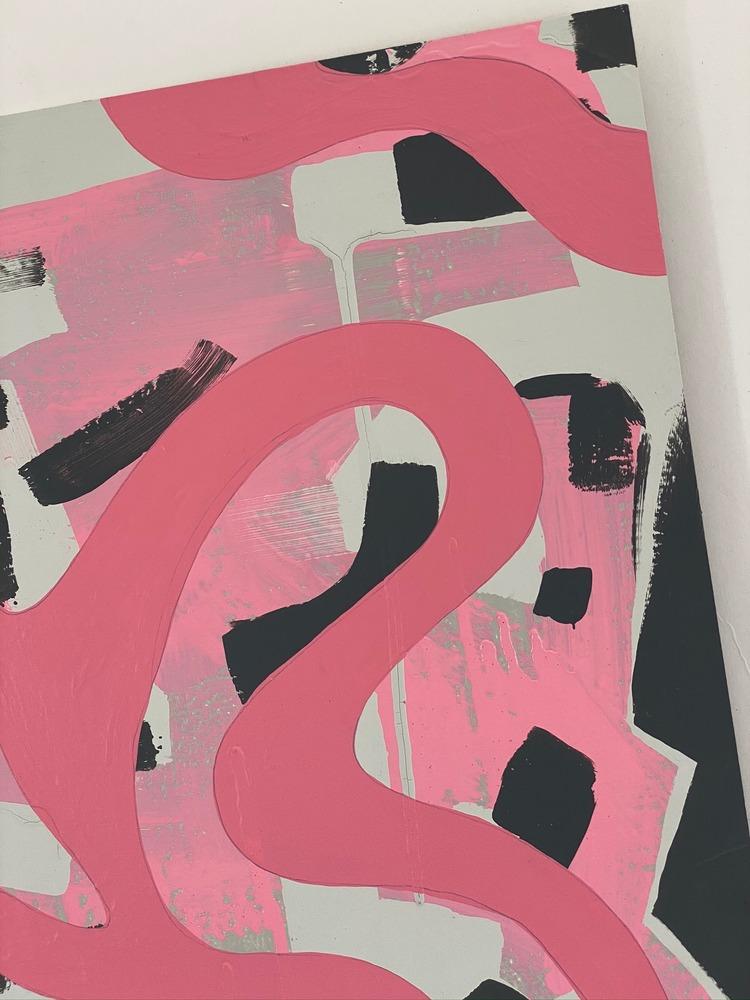 4 4 20 thomas matthew pierson amoeba fractal #13 18x24 acrylic on hardboard 2020 detail 4