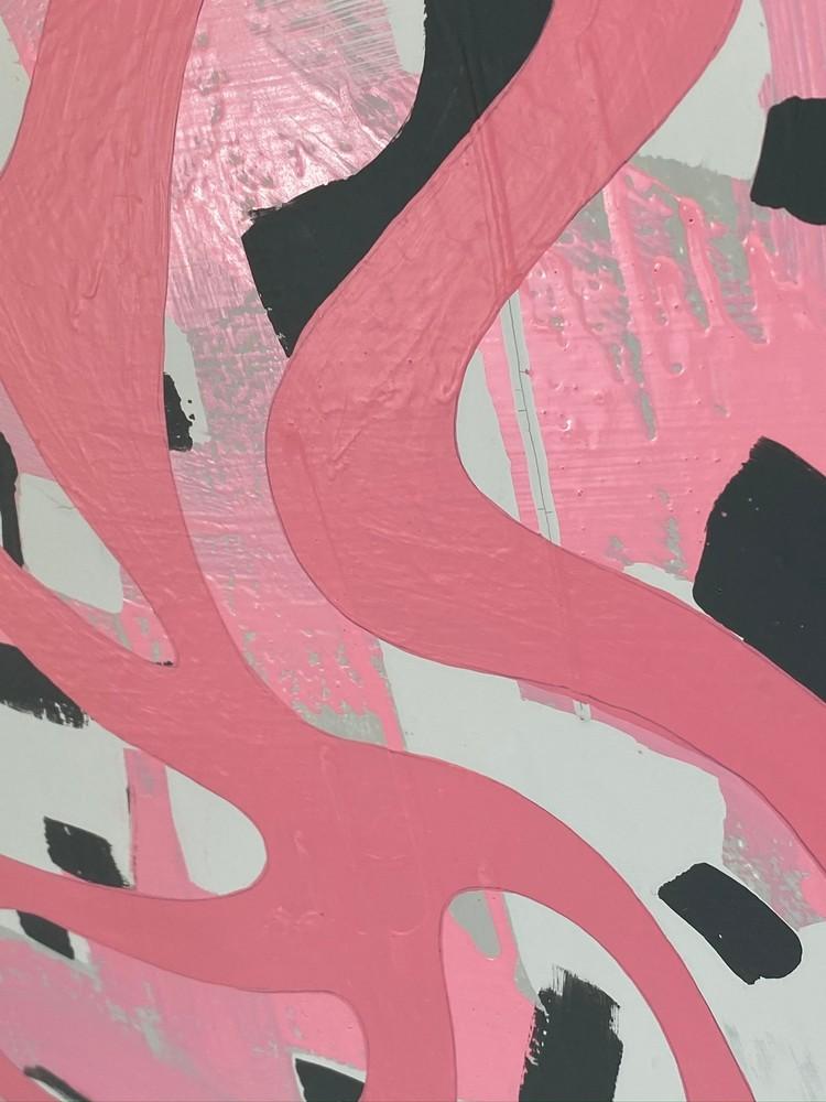 4 4 20 thomas matthew pierson amoeba fractal #13 18x24 acrylic on hardboard 2020 detail 6