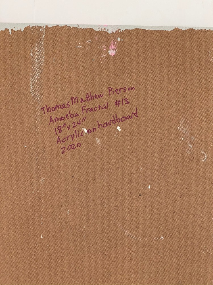 4 4 20 thomas matthew pierson amoeba fractal #13 18x24 acrylic on hardboard 2020 detail 10