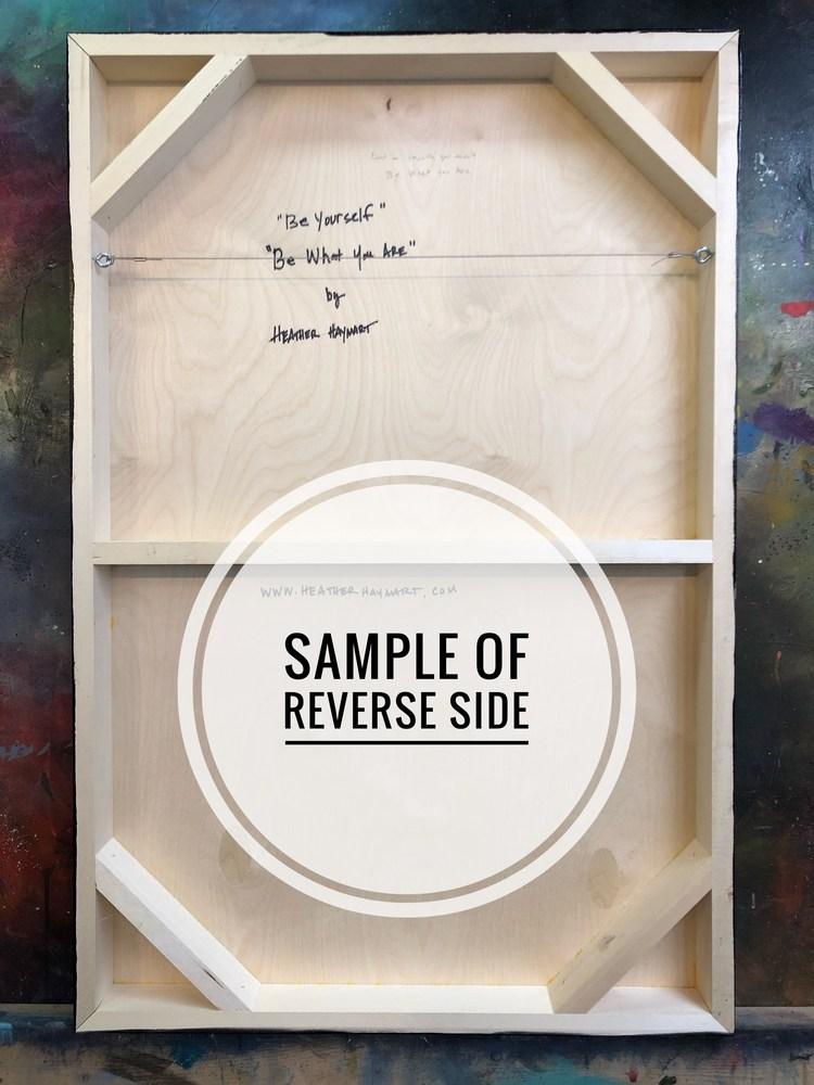 Sample of Reverse Side 24x36