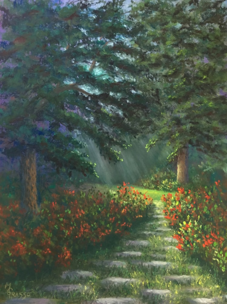 Glowing Garden Path