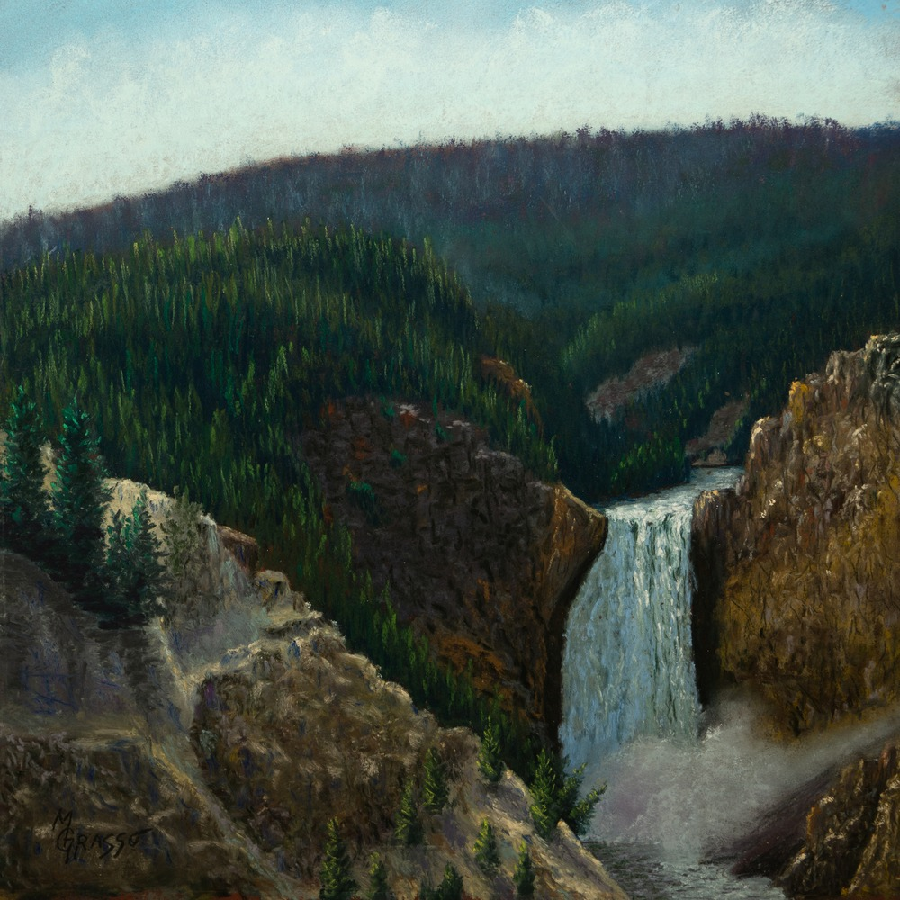 Yellowstone Falls from Artists Point med