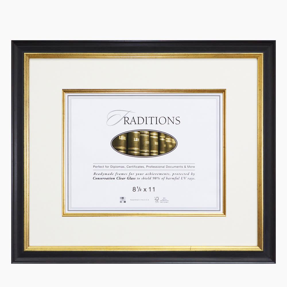 Black & Gold Document Frames