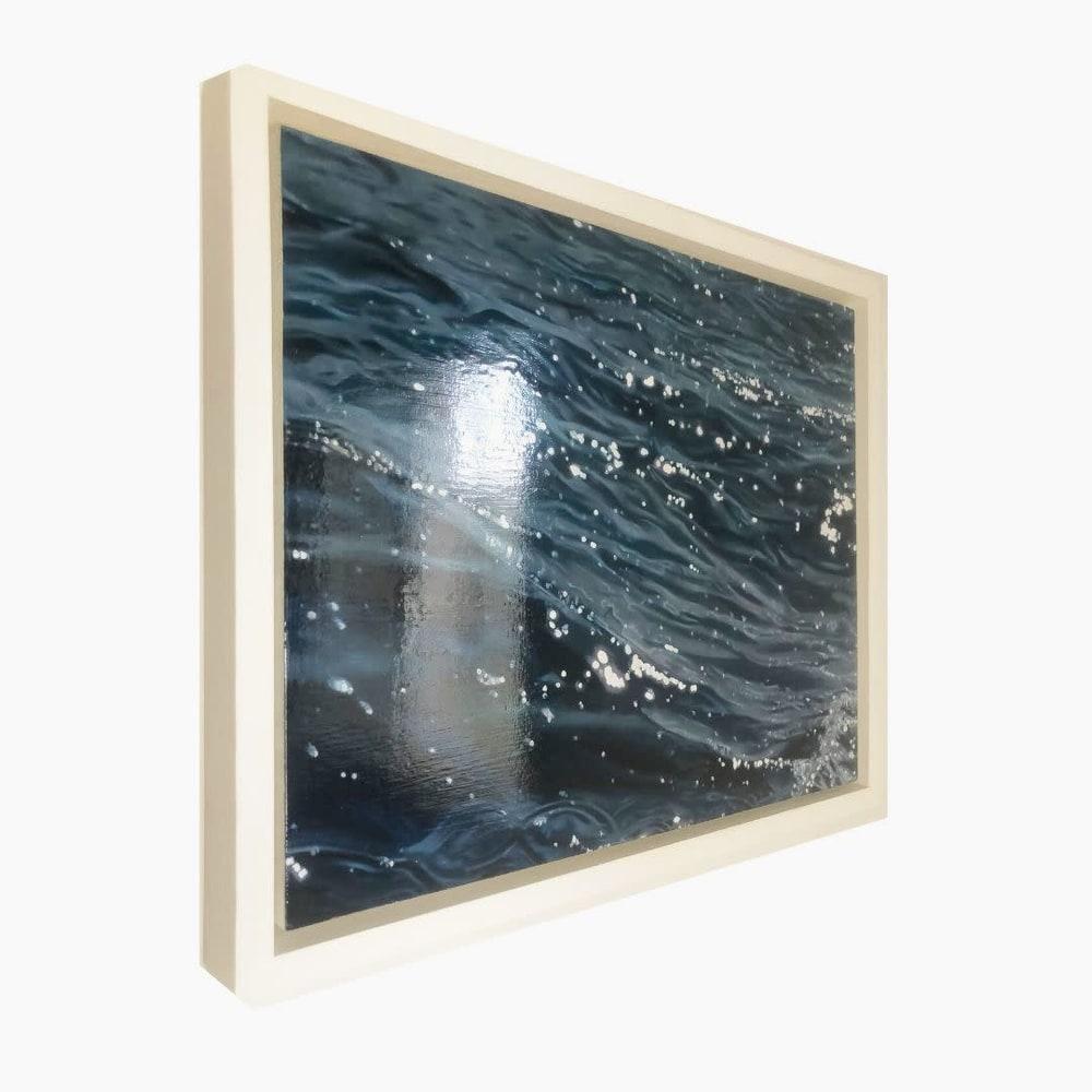 Carina Francioso   The Adriatic Glistens   Art Gallery Hawaii Ocean Painting Original Blue Sparkly 2