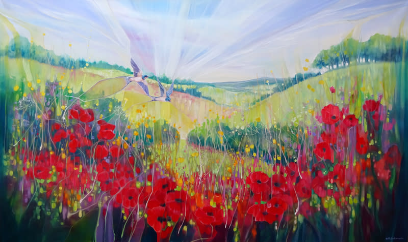 South Downs Summer by Gill Bustamante S