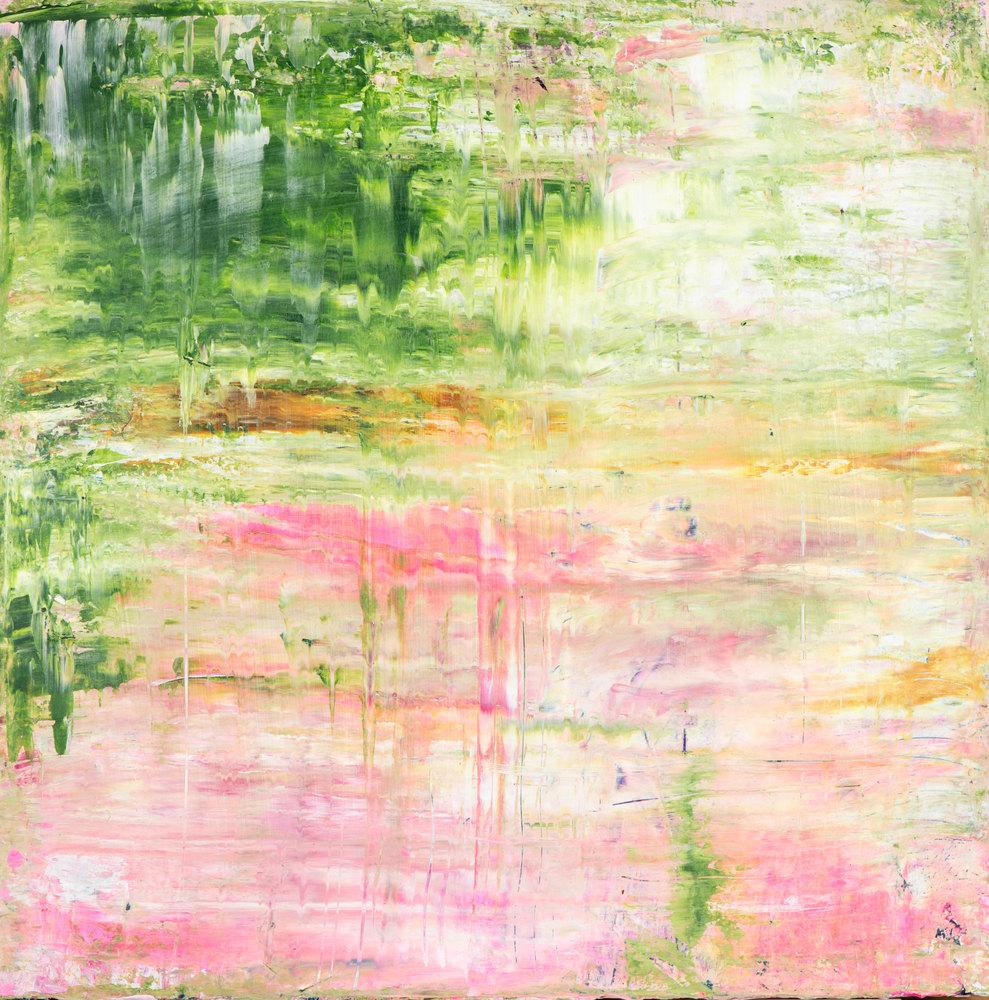 'let me hear the silence' Eadaoin Glynn 2020, acrylic on canvas, framed, 50x50cm HiRes