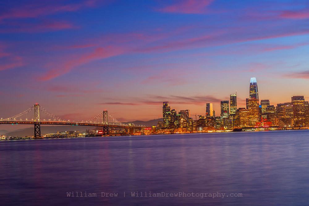 San Francisco Bay Bridge Sunset sm