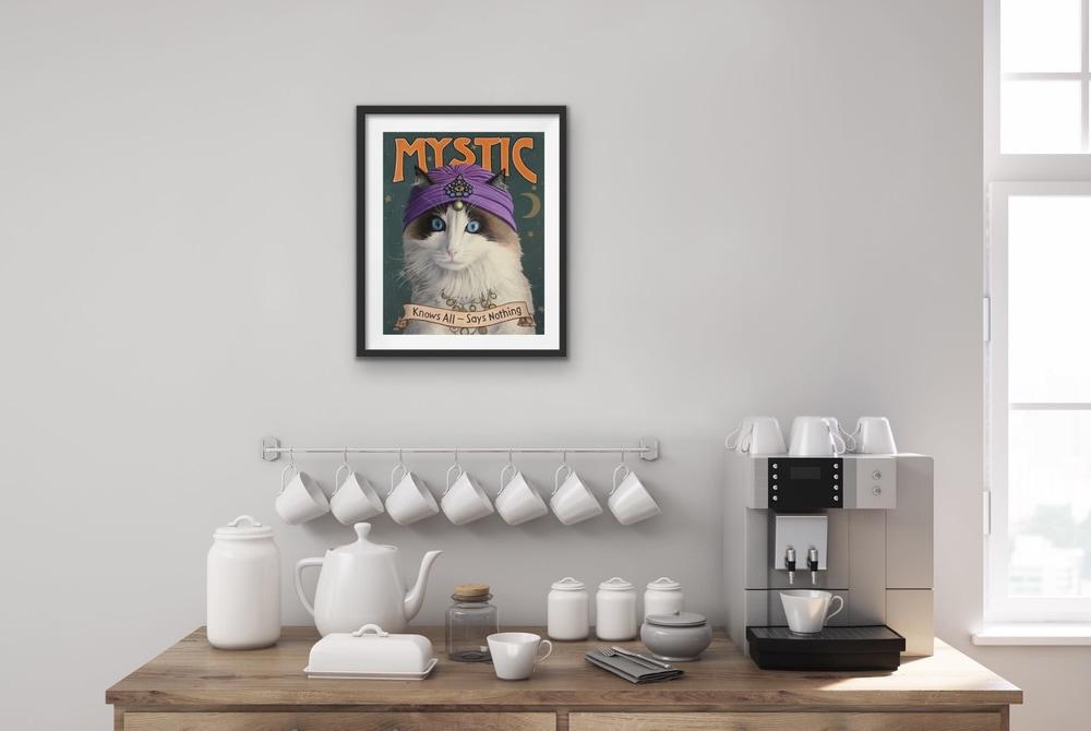 Paul Bond   Evo Art Maui Mystic Mock Ups Magical Realism Animals Cat Front Street Gallery Lahaina Hawaii 4