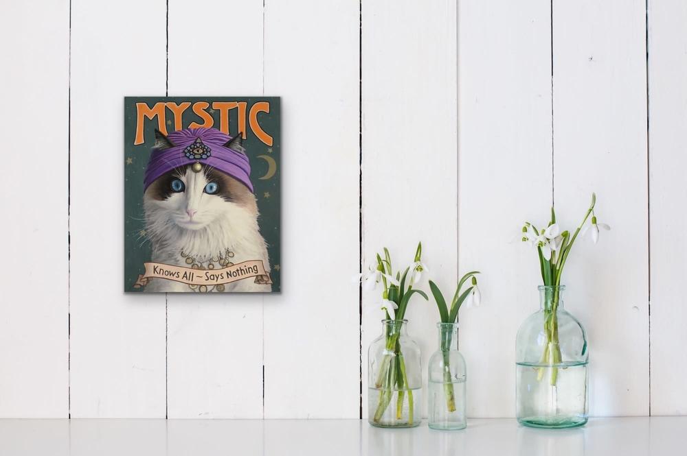 Paul Bond   Evo Art Maui Mystic Mock Ups Magical Realism Animals Cat Front Street Gallery Lahaina Hawaii 3