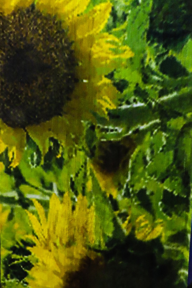 Sunflower scarf 2