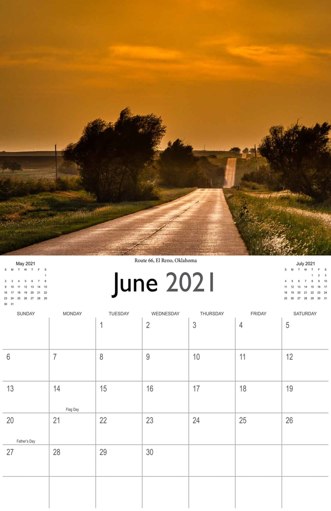 2021 Sunrises and sunsets calendar June